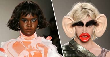 Black Model Refuses To Wear Racist Monkey Lips And Ears At Fashion Institute Of Technology Show