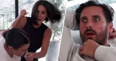 Kim Kardashian Punches Kourtney In The Face During On-Camera Fist Fight