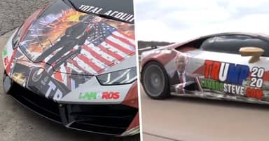 Oklahoma Man Wraps His $240,000 Lamborghini In Trump Tribute Stickers