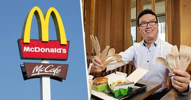 McDonald's Australia Will Axe Plastic Cutlery And Replace It With Wooden Utensils
