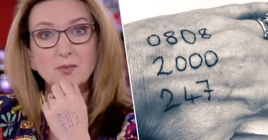 BBC News Presenter Victoria Derbyshire Praised For Subtly Showing Life-Saving Phone Number On Hand