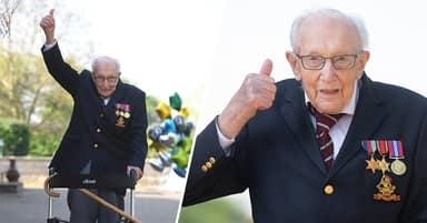 Captain Tom Moore Just Completed His 100th Lap Of His Garden After Raising More Than £12m For NHS