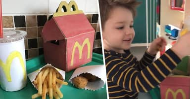 Family Recreates Happy Meal For Little Boy Who Misses McDonald's