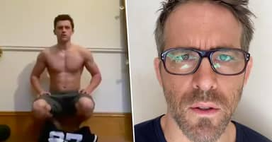 Tom Holland Challenged Jake Gyllenhaal And Ryan Reynolds To Do Shirtless Handstands