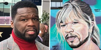 Artist Behind 50 Cent Murals Says He Can't Stop Painting Him Despite 'Hip-Hop Beef'
