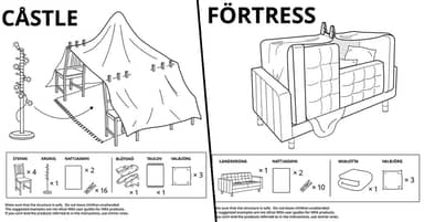 IKEA Shares How To Make 6 Types Of Furniture Forts During Quarantine