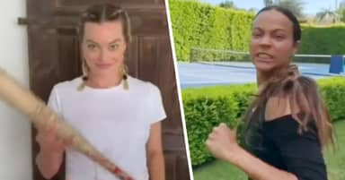 Margot Robbie And Hollywood Stars Take On Boss B*tch Fight Challenge