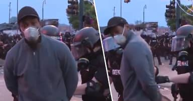 Riot Police Arrest Entire CNN Camera Crew Live On-Air During Minneapolis Protests
