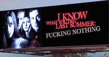 Sarah Michelle Gellar Shares Parody Billboard That Sums Up Summer 2020
