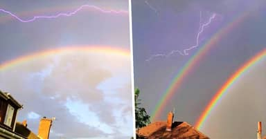 Rare Double 'Lightning Rainbows' Spotted In Skies Across The UK