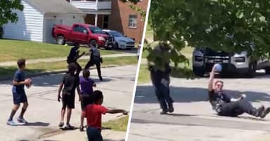 Ohio Cops Called On Black Kids Playing Street Football, Officers Join Game