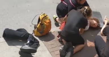 Police Investigating As Double Amputee Is Pepper Sprayed At Demonstration In Columbus, Ohio