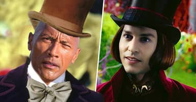 The Rock Says He Battled Johnny Depp To Play Willy Wonka