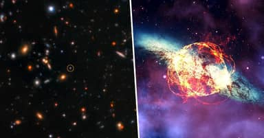 Astronomers Glimpse 'Teenage' Years Of Universe In Rare Cosmic Explosion