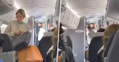 Passengers Applaud As Woman Thrown Off Plane For Refusing To Wear Mask