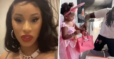 Cardi B Defends Offset Giving 2-Year-Old Daughter $9,000 Handbag