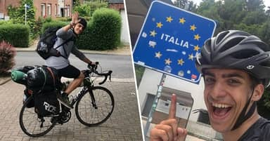 Student Cycled For 48 Days To Make It Back To His Family After Flights Were Cancelled