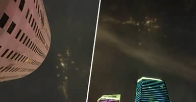 Mysterious Coloured Lights In Night Sky Spark UFO Scare In China