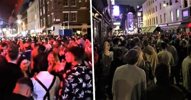 Crowds Of Drunk Londoners Pack Soho Streets As Lockdown Eases