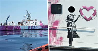 Banksy Funds Rescue Boat Louise Michel To Save Refugees In Mediterranean