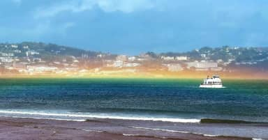 Super Rare Horizontal Rainbow Spotted Over Sea After Storm In Devon