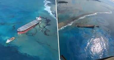 Almost All Fuel Pumped Out Of Shipwreck After Mauritius Oil Spill