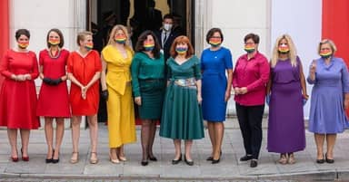 Polish MPs Protest Homophobic President's Swearing-In To Show LGBTQ+ Solidarity