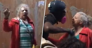 Protesters Hurl Paint At Portland Pensioner Asking Them To Stop Vandalising