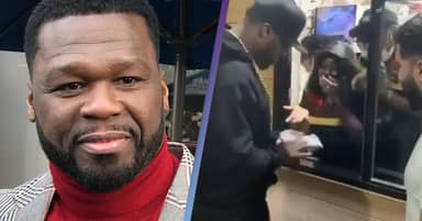50 Cent Gives Away More Than $30,000 In Cash To Burger King Employees