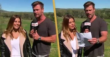 Chris Hemsworth Steals Reporter's Mic To Take Over Weather Update