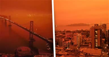 Wildfires Turn San Francisco's Sky A Disturbing Shade Of Orange