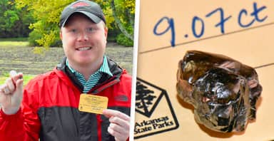 Man Finds 9-Carat Diamond In Soil At Arkansas State Park