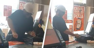 Incompetent Thief Gets Lectured By Cashiers On His Technique While Robbing Takeaway