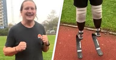 Guy Jumps For First Time In Years After Getting His 'New Legs'