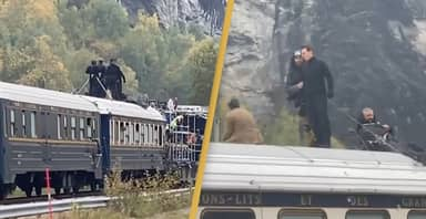 Tom Cruise Balances On Top Of Speeding Train Filming Mission: Impossible 7