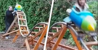 'Dad Of The Year' Built His Kids A Mini Rollercoaster In Back Garden