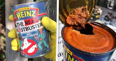 Man Opens 28-Year-Old Tin Of Ghostbusters Pasta, It Was Horrible