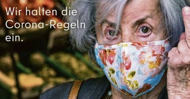 German Advert Puts Up Middle Finger To People Who Don't Wear Masks