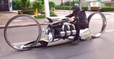 Motorbike Powered By Plane Engine Looks Like Something From A Sci-Fi Film