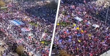 Thousands Of Trump Supporters Gather In DC To Protest Election
