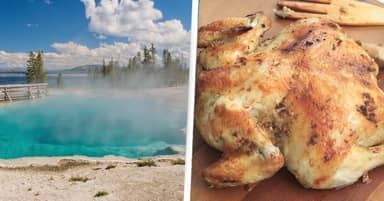 Man Banned From National Park For Trying To Cook Chickens In Hot Spring