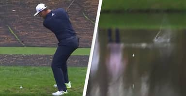 Spanish Golfer Hits Unbelievable Hole-In-One By Skimming It Across Water