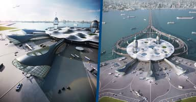 Japanese Architects Create Stunning Futuristic Spaceport Concept