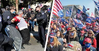 20 Arrested At 'MAGA March' As Trump Supporters And Counter Demonstrators Clash