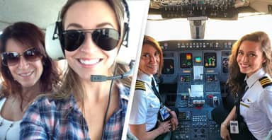 Mum And Daughter Pilots Make History Flying Commercial Plane Together
