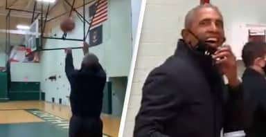 Barack Obama Casually Scores Incredible Three-Pointer In Single Try