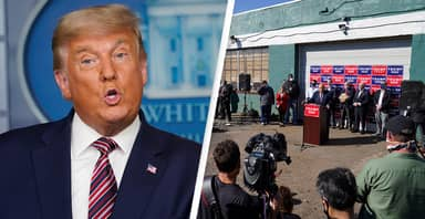 Trump Team Mocked For Holding Press Conference At Garden Centre After Mixing Up Four Seasons