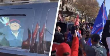 Donald Trump Spotted Driving Through DC 'MAGA March'