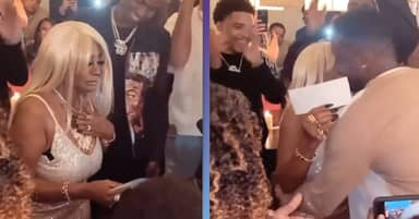 Diddy Surprises Mum With $1 Million Cheque On Her 80th Birthday