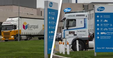 First Lorries Carrying Coronavirus Vaccine Heading To UK